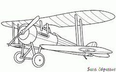 """Résultat de recherche d'images pour """"biplan avion dessin"""""""