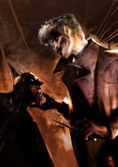 Batman and The Joker by Lorenzo Nuti