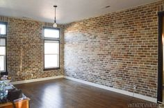 How to install faux brick paneling how to expose brick 9 s with faux brick veneer wall vine revivals how to decorate exposed brick walls Brick Tile Wall, Brick Veneer Wall, Brick Accent Walls, Faux Brick Walls, Brick Paneling, Exposed Brick Walls, Faux Brick Wall Panels, Brick Wall Bedroom, Thin Brick Veneer