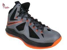 new product 18544 d7151 NIKE LeBron x pour homme Hi Top Basketball Formateurs 541100 Sneakers  Chaussures James - multicolore - charcoal total orange black 002, 44 EU   Amazon.fr  ...