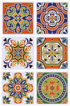 Mandala Art, Tile Patterns, Pattern Art, Mundo Hippie, Ceramic Tile Art, Stencils For Wood Signs, Folk Art Flowers, Islamic Art Pattern, Turkish Art