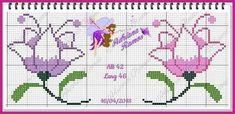 Cross Stitch Borders, Cross Stitch Rose, Cross Stitch Alphabet, Cross Stitch Flowers, Cross Stitch Patterns, Sewing Art, Sewing Crafts, Sewing Patterns, Filet Crochet
