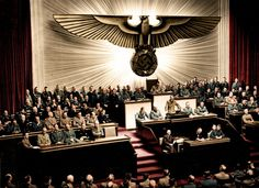 Hitler declaring war on America