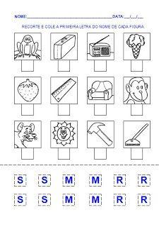 Atividade 2 para a hipótese de escrita pré-silábica. Alfabetização.