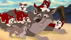 """Balto with Aleu, Kodi, and their siblings as puppies in """"Balto Wolf Quest"""" Disney Dogs, Disney Art, Disney Movies, Disney And Dreamworks, Disney Pixar, Balto Film, Balto And Jenna, Childhood Movies, Wolf Pictures"""