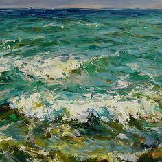 Ocean Waves | 40 x 60 | Oil on Canvas | <u><b>Sold</b></u>