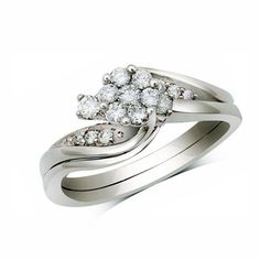 I've tagged a product on Zales: 1/3 CT. T.W. Diamond Composite Bridal Set in 10K White Gold