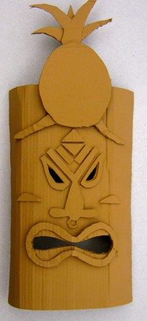 cardboard tiki masks