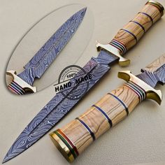 Damascus Dagger Knife Custom Handmade Damascus Steel Hunting Dagger Knife 1072