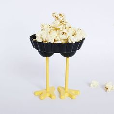 Popcorn anyone? 🐓 Jeanette the tray is available in the shop (without popcorn sorry) link in bio #tray #homewares #oolaladesign #chick #chicken #quirky #bird #popcorn