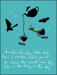 Twinkle Twinkle Little Bat Alice in Wonderland