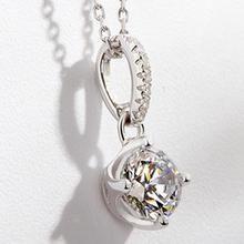 T400 Jewelers - Sterling Silver Swarovski Zirconia Necklace