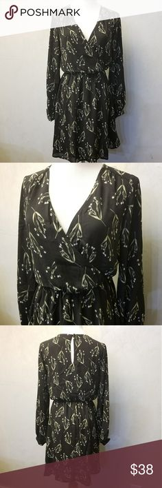 NWT LUSH green floral dress Brand new with tags black dress with green floral dress Lush Dresses Midi
