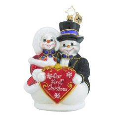 Christopher Radko Snowy Sweethearts Our First Snowman Christmas Ornament >>> More info could be found at the image url. (This is an affiliate link) #DIYHomeDecor