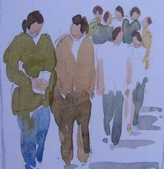 Great for Urban Sketching! Jim's Watercolor Gallery - Painting Peoplehttp://www.jims-watercolor-gallery.com/painting-people-in-watercolor.html