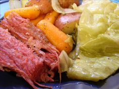 Slow Cooker Corned Beef and Cabbage - Easy and delicious recipe for your slow cooker for St. Patrick's Day!
