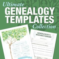 Save 64% on Ultimate Genealogy Templates Collection – includes Essential Family Tree Forms library (a set of fillable PDF forms), Get Organized with Research Logs, Genealogy Research Log Templates, Genealogy File Folder Color Sheet Templates, and more! Via ShopFamilyTree