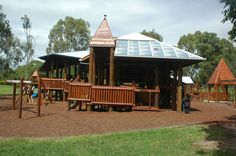 There's barely an al fresco childhood activity that isn't catered for in this state of the art playground and surrounds, with a cricket pitch, basketball half-court, rebound wall and a tangle of skating and BMX tracks. Brisbane Kids, Playground, Gazebo, Activities For Kids, Have Fun, Outdoor Structures, House Styles, Outdoor Decor, Parks