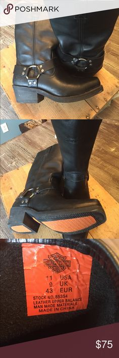 Harley Davidson motorcycle boots Almost new lots of life left in these boots! Harley-Davidson Shoes Boots
