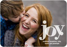 Flat Holiday Photo Cards Joyful Highlights - Front : White