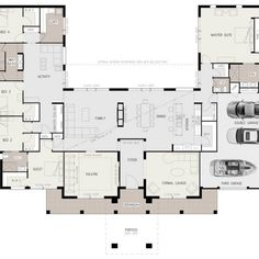 U Shaped House Plans with Courtyard Pool Lovely Floor Plan Friday U Shaped 5 Bed. U Shaped House Plans with Courtyard Pool Lovely Floor Plan Friday U Shaped 5 Bedroom Family Home U Shaped House Plans, U Shaped Houses, Big Houses, Dream Houses, Ranch House Plans, Dream House Plans, House Floor Plans, 5 Bedroom House Plans, Ranch Style Floor Plans