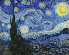 Buy famous artwork Starry Night by Vincent Van Gogh. Fine arts for sale. Starry Night by Vincent Van Gogh classic art. Buy quality art at ATX Fine Arts. Gogh The Starry Night, Starry Nights, Van Gogh Pinturas, Tomie Ohtake, Art Encadrée, Famous Artwork, Van Gogh Paintings, Free Art Prints, Oil Painting Reproductions