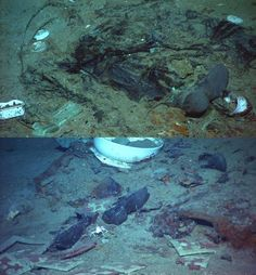 A very poignant photo of the titanic wreckage.