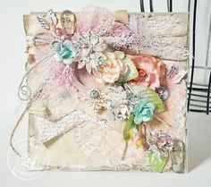 Mixed Media Card by Stacey Young for Prima! www.prima.typepad.com