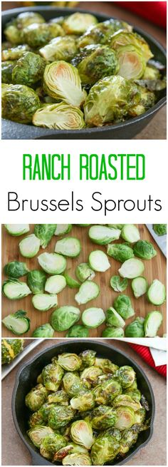 Ranch Roasted Brussels Sprouts. Super easy to make and really delicious!