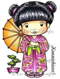 Kimono Marci (with accessories) Rubber Stamp