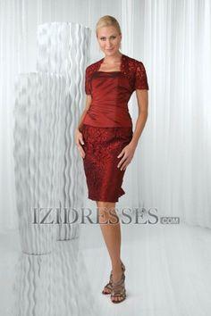 Sheath/Column Strapless Taffeta Mother of the Bride Dresses - IZIDRESSES.com