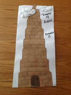 Tower of Babel; write what you are good at. roll up like a scroll ?
