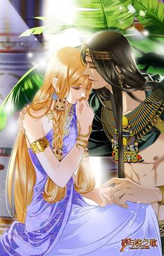 Sủng Phi Của Pharaoh - Chap 67.5 Manga Couple, Couple Cartoon, Anime Couples Manga, Egyptian Mau, Egyptian Women, Manga Love, Anime Love, Fantasy Characters, Anime Characters