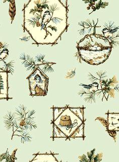 Jaima Brown- Plume: Spring Green shop.wallpaperconnection.com