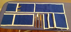 Flatware holders for feast kits.  Would be great as part of gold key.