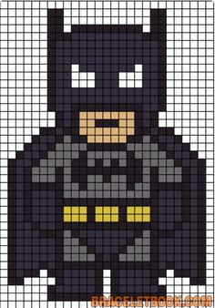 Batman Perler Bead Pattern-could also work for a quilt pattern :) . - Batman Perler Bead Pattern-could also work for a quilt pattern :] – making - Pearler Bead Patterns, Perler Patterns, Pearler Beads, Quilt Patterns, Loom Patterns, Art Patterns, Knitting Patterns, Perler Bead Templates, Perler Beads