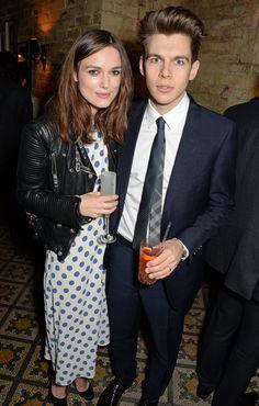 Keira Knightley and James Righton before the BAFTA Awards.