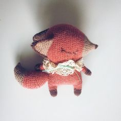 adorable amigurumi fox by viktoria_sevostyanova