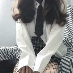 Edgy Outfits, Korean Outfits, Cute Casual Outfits, Girl Outfits, Fashion Outfits, Moda Ulzzang, Ulzzang Girl, Ulzzang Fashion, Korean Fashion