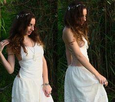 Abito bohemienne lungo in pizzo abito da sposa alternativo