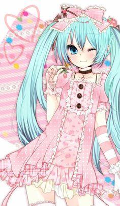 ❤٩(๑•◡-๑)۶❤                                               Miku, Vocaloid