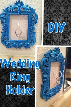 Wedding ring holder! Would be awesome in the kitchen on the wall under the cabinets, just above the countertops. Safe keeping while doing dishes. #possibilities
