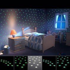 100 Pcs Mur Glow in the Dark Stars Stickers Enfants Chambre Nursery Room Decor UK Room Stickers, Wall Stickers Home Decor, Wall Stickers Murals, Nursery Wall Decor, Nursery Room, Bedroom Decor, Star Stickers, Kids Bedroom, Baby Room