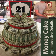 Money cake created by IPP for a 21st birthday is certainly a clever way to gift money $$$.