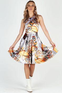 Audubon Owls Velvet Princess Midi Dress BM - Limited 28e442a66b1df