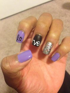 Pre-valentines day nails