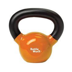 KettleWorx 15-Pound Premium, Vinyl Coated Kettlebell $39.95
