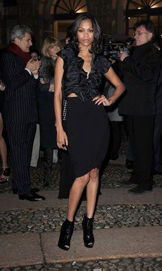 Zoe Saldana attends Vogue.it during Milan Fashion Week Womenswear Autumn/Winter 2010 on February 26, 2010 in Milan, Italy.