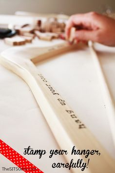 DIY Hangers. Cute gift idea for your bridesmaids