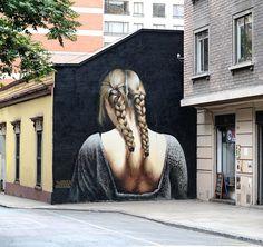 Stunning work by @grasosbremagro in Santiago Chile (http://globalstreetart.com/barriga) #globalstreetart